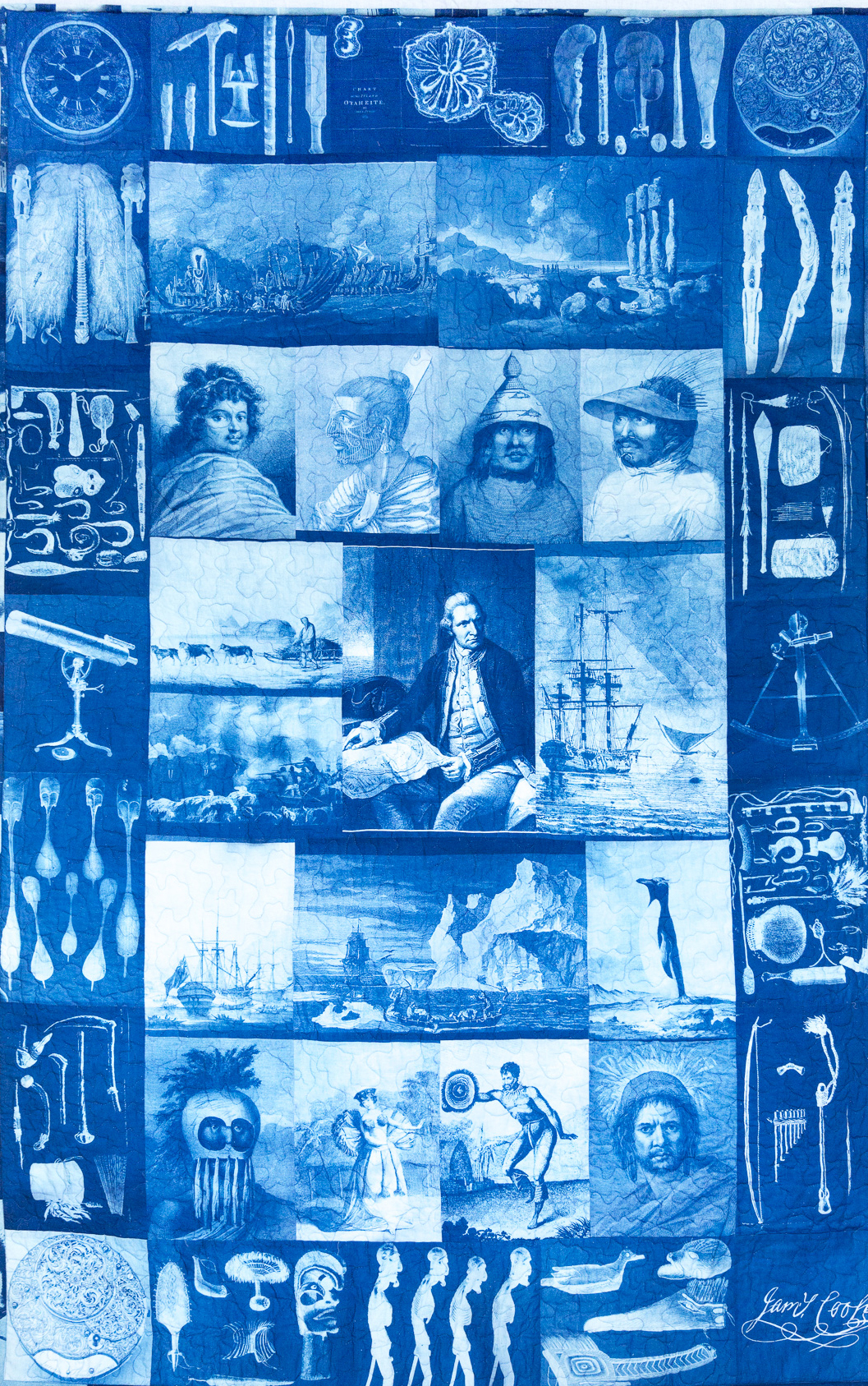 Cyanotype On Fabric Applique Quilts The British Association Of